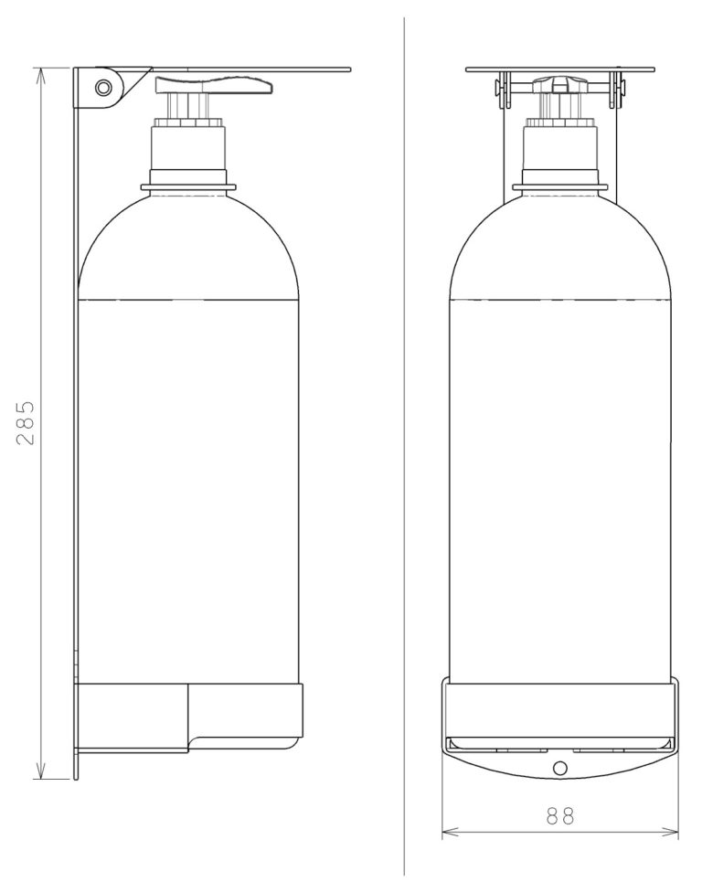 plano dispensador de gel bioseguridad coronavirus